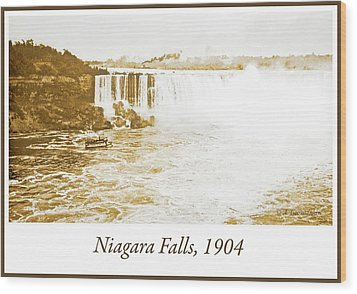 Wood Print featuring the photograph Niagara Falls Ferry Boat 1904 Vintage Photograph by A Gurmankin
