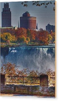 Wood Print featuring the photograph Niagara Falls From Ontario by Don Nieman