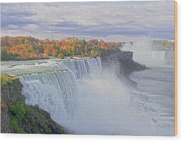 Niagara Falls In Autumn Wood Print