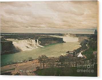 Wood Print featuring the photograph Niagara Falls by Mary Machare