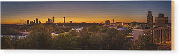 Wood Print featuring the photograph Niagara Falls Twilight From The 9th Floor by Chris Bordeleau