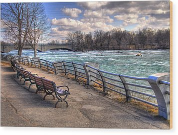 Niagara Rapids In Early Spring Wood Print by Tammy Wetzel