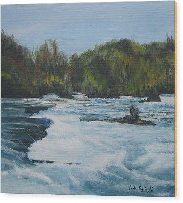 Niagra Rapids Wood Print