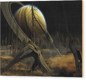 Nibiru Wood Print by Mark T Allen