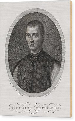 Niccolo Machiavelli, Italian Philosopher Wood Print by Middle Temple Library