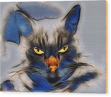 Nice Pussy Cat Wood Print by Irma BACKELANT GALLERIES
