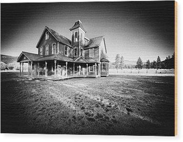 Nicolas Haunted House IIb Wood Print by Paul W Sharpe Aka Wizard of Wonders