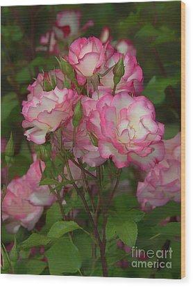 Nicole Roses Wood Print