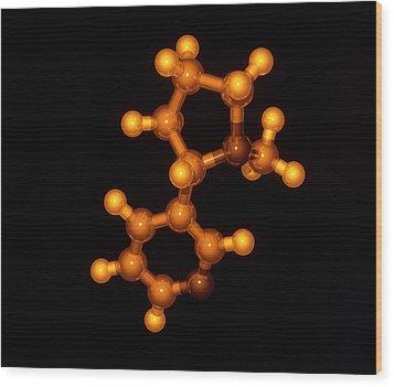 Nicotine Molecule Wood Print by Laguna Design