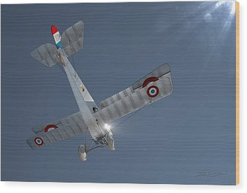Nieuport 17 In The Blue Sky Wood Print by David Collins