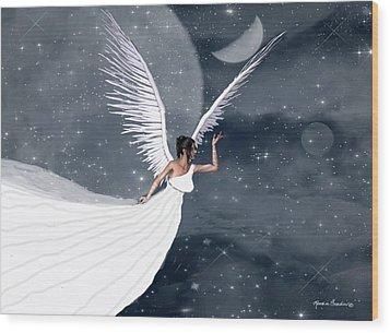 Night Angel Wood Print