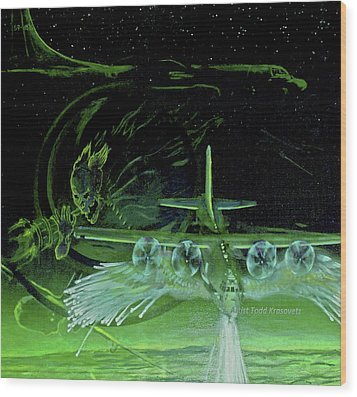 Night Angels Wood Print by Todd Krasovetz