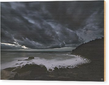 Night At Boulder Beach Wood Print