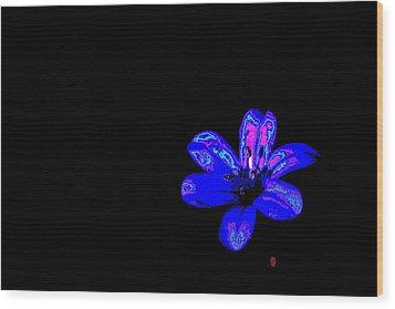 Night Blue Wood Print