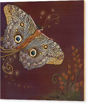 Night Butterfly  Wood Print