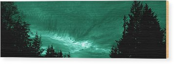 Night Clouds Wood Print