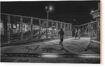 Night Commute  Wood Print by Jeffrey Friedkin