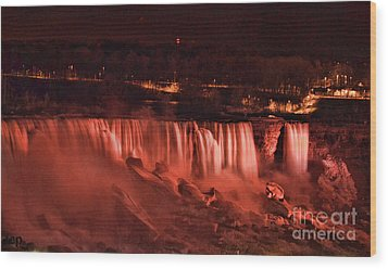 Wood Print featuring the photograph Night Falls by Traci Cottingham