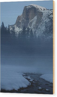 Wood Print featuring the photograph Night Falls Upon Half Dome At Yosemite National Park by Jetson Nguyen