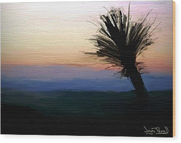 Wood Print featuring the painting Night Falls by Wayne Pascall