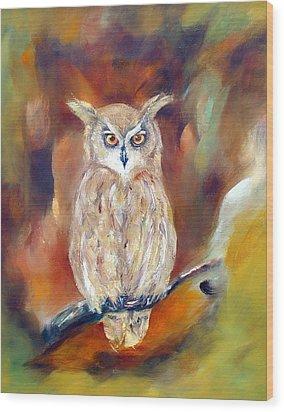 Night Flight Wood Print by Zoe Landria