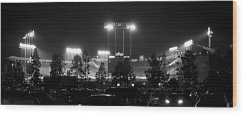 Night Game Wood Print by Ricky Barnard