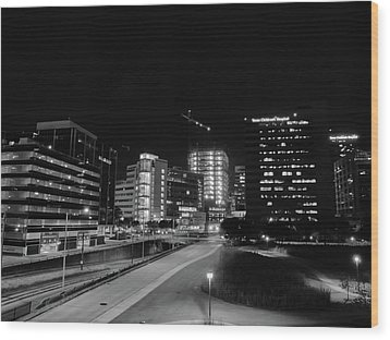 Wood Print featuring the photograph Night In The Medical Center by Joshua House