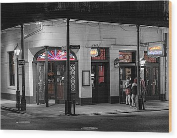 Night Life Wood Print by Glenn DiPaola