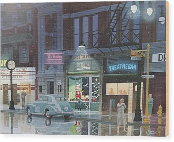Night Life In The 1940s Wood Print