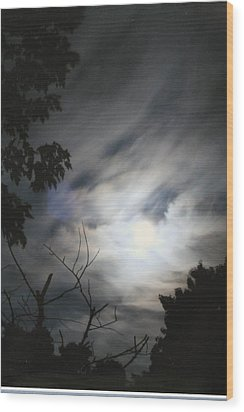 Wood Print featuring the photograph Night Light by Diane Merkle