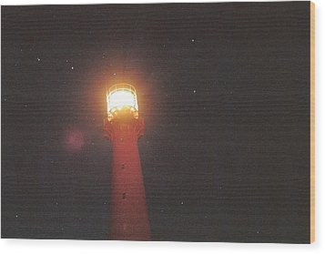 Night Light Wood Print by Gregory Barger