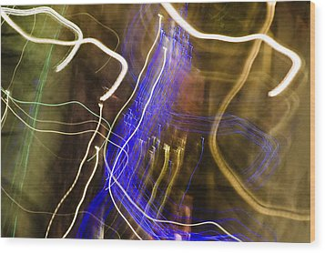 Night Lights 2 Wood Print by Layne Hardcastle