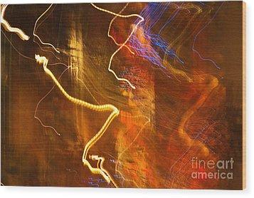 Night Lights 3 Wood Print by Layne Hardcastle