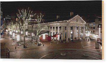 Night Market Wood Print by Greg Fortier