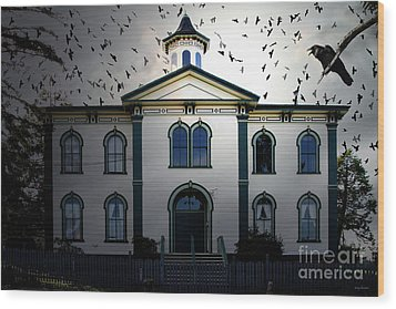 Night Of The Birds . 7d12487 Wood Print by Wingsdomain Art and Photography