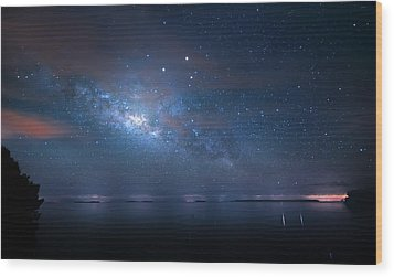 Wood Print featuring the photograph Night Of The Milky Way by Mark Andrew Thomas