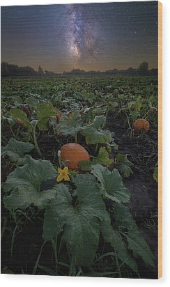 Wood Print featuring the photograph Night Of The Pumpkin by Aaron J Groen