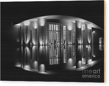 Night Reflection Wood Print by M G Whittingham