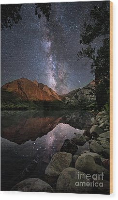 Wood Print featuring the photograph Night Reflections by Melany Sarafis
