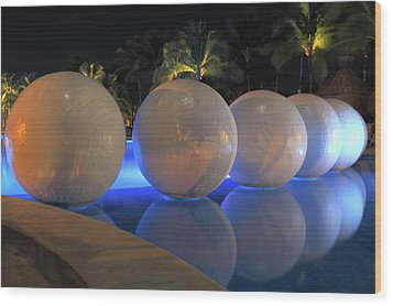 Wood Print featuring the photograph Night Reflections by Shane Bechler