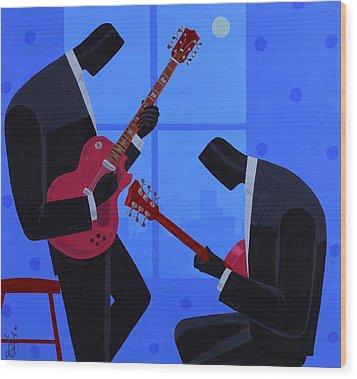 Night Rhythms Wood Print by Darryl Daniels