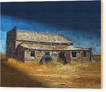 Wood Print featuring the photograph Night Shift by Susan Kinney