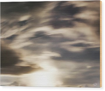 Wood Print featuring the photograph Night Sky 1 by Leland D Howard