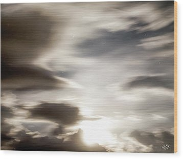 Wood Print featuring the photograph Night Sky 4 by Leland D Howard