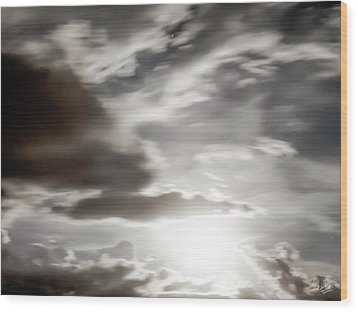 Wood Print featuring the photograph Night Sky 5 by Leland D Howard