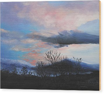 Wood Print featuring the painting Night Sky by M Diane Bonaparte