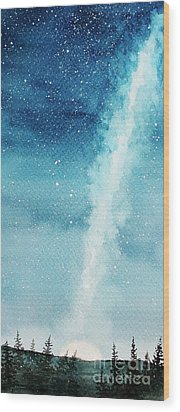 Night Sky Wood Print