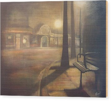 Night Stroll Wood Print by Victoria Heryet