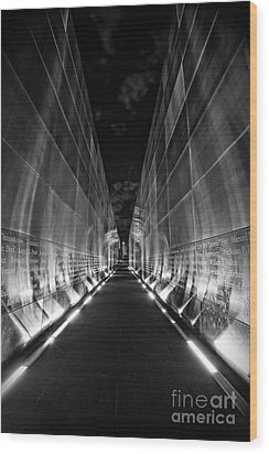 Night Time At Empty Sky Memorial Wood Print