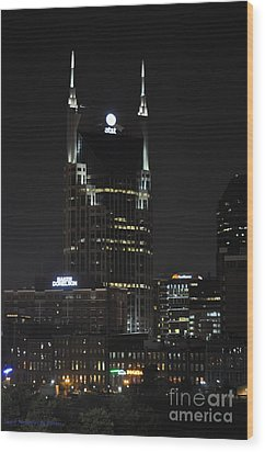 Night View Wood Print
